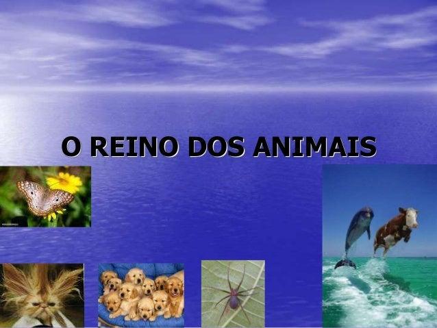 O REINO DOS ANIMAIS