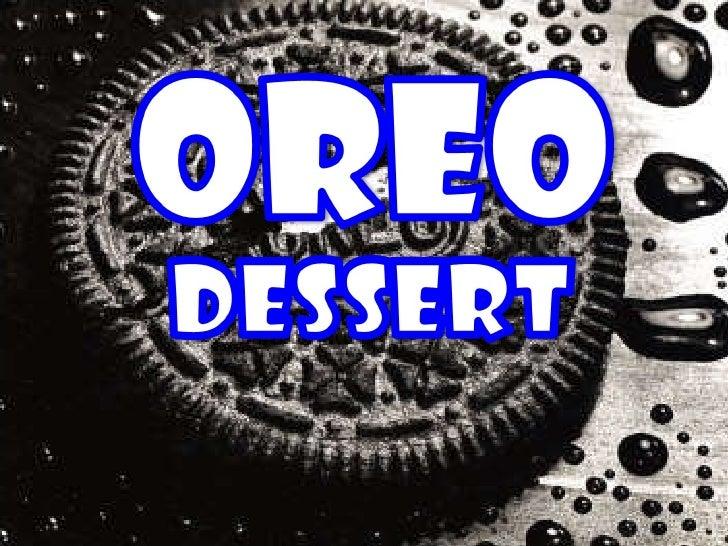 Oreo Desert