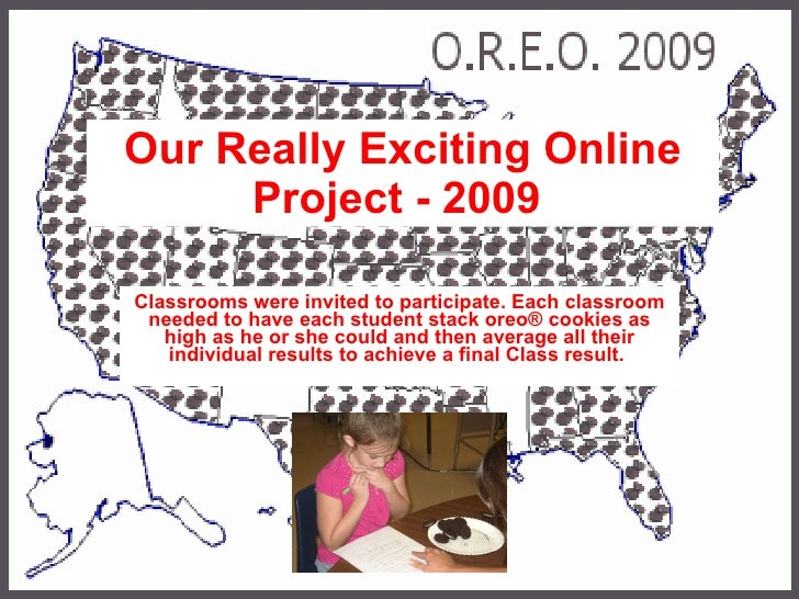 Our Really Exciting Online Project - 2009   Classrooms were invited to participate. Each classroom needed to have each stu...