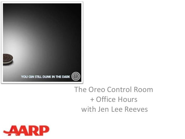 The Oreo Control Room    + Office Hours  with Jen Lee Reeves