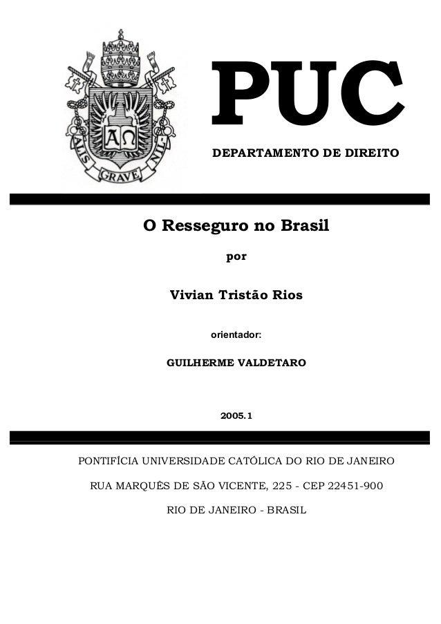 O resseguro no brasil