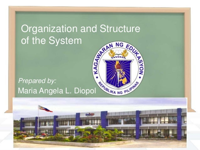 Organization and Structure of the System  Prepared by:  Maria Angela L. Diopol