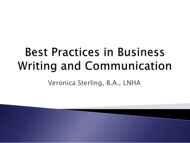 Org 536 best practices in business  communication