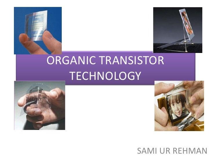 Organic Semiconductor Technology