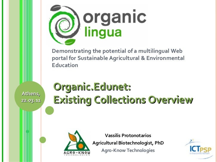Demonstrating the potential of a multilingual Web portal for Sustainable Agricultural & Environmental Education Vassilis P...