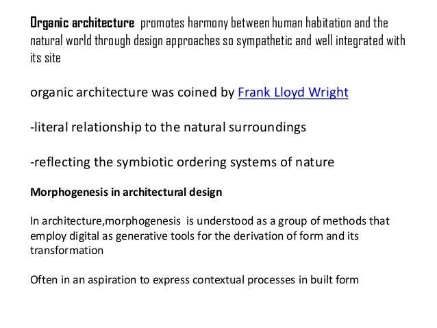 Dissertation on organic architecture