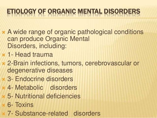 organic brain syndrome