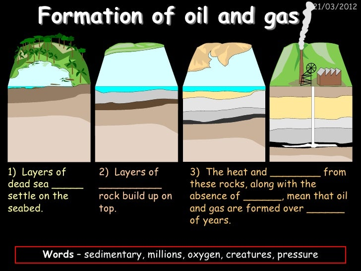 Formation of oil and gas                                                              21/03/20121) Layers of     2) Layers...