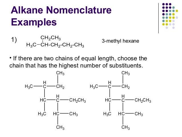 Organic chemistry alkane nomenclature worksheet