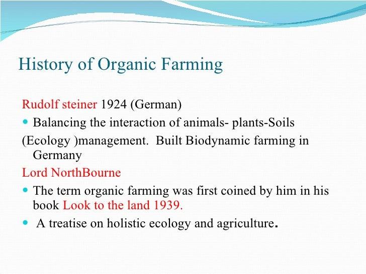 Organic Farming's History