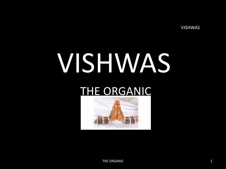 Organic Food Presentation