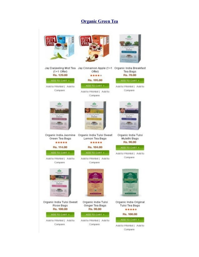 Organic green tea | tulsi tea