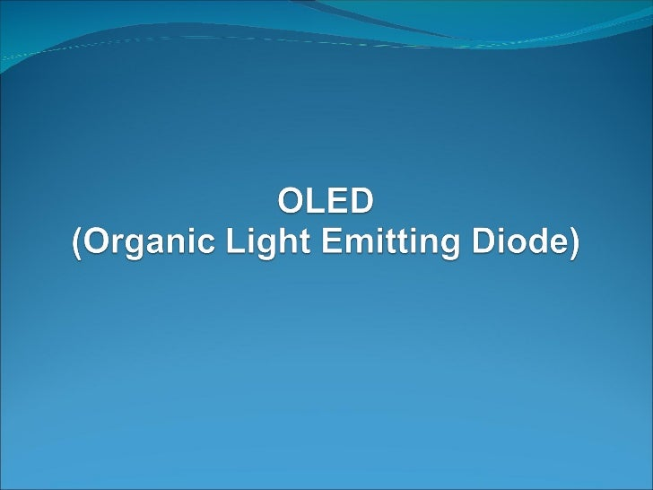 Organic Light Emitting Diode