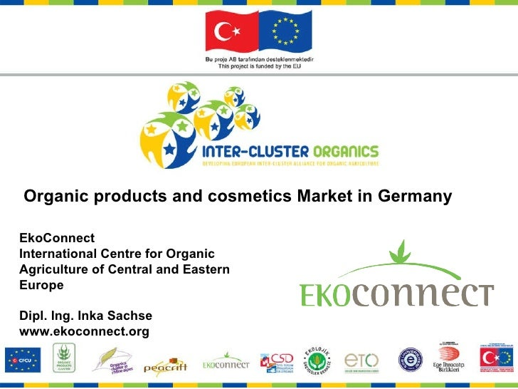 Organic products and cosmetics Market in Germany EkoConnect  International Centre for Organic Agriculture of Central and E...