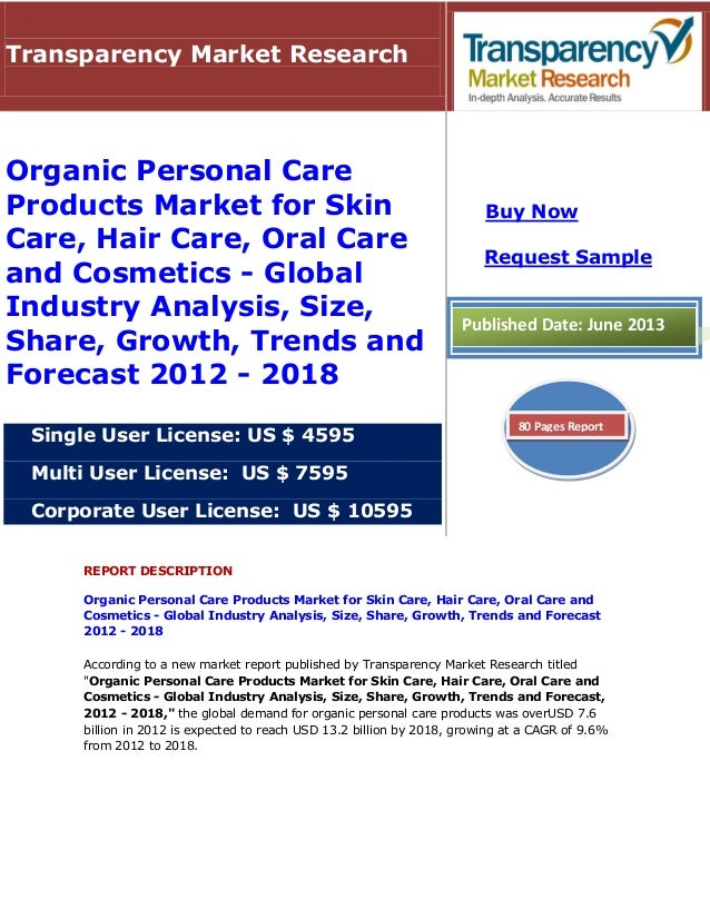 Organic Personal Care Products Market For Skin Care Hair