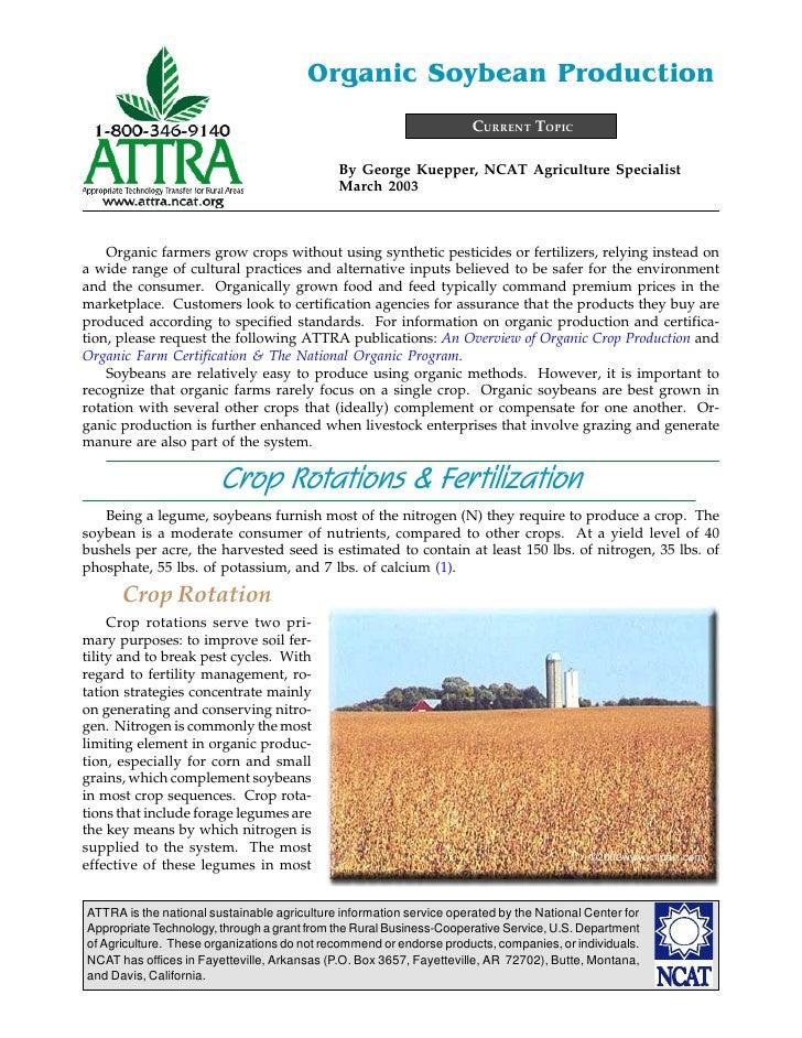 Organic Soybean Production