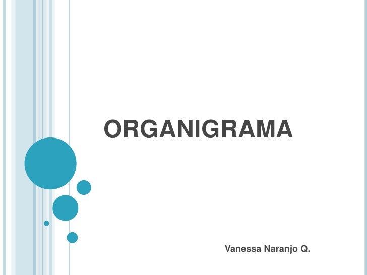 ORGANIGRAMA       Vanessa Naranjo Q.