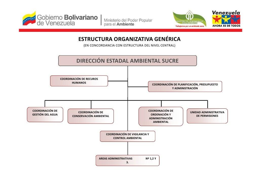 ESTRUCTURA ORGANIZATIVA GENÉRICA                                 (EN CONCORDANCIA CON ESTRUCTURA DEL NIVEL CENTRAL)       ...