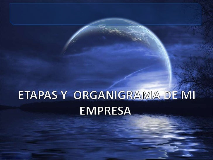 ETAPAS Y  ORGANIGRAMA DE MI EMPRESA<br />