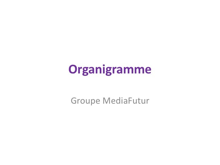 Organigramme<br />Groupe MediaFutur<br />