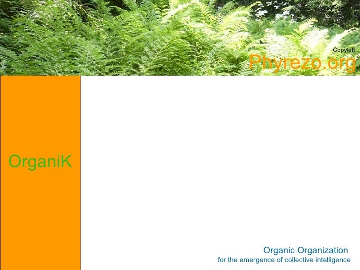 Copyleft                      Phyrezo.org    OrganiK                             Organic Organization           for the em...