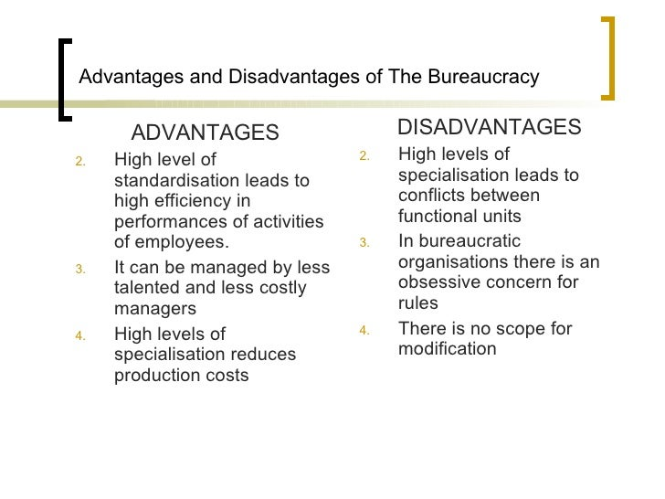 advantages adn disadvantages of standardisation adn Standardization is the process by which a company makes it methods, especially its production processes, uniform throughout its organization standardization helps cut costs by eliminating duplicated effort and allows a company to take advantage of economies of scale when purchasing supplies.