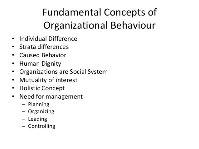 fundamental concepts of organizational behav A concise paperback on organizational behavior concepts firmly grounded in the new workplace the solid introduction to ob in the new workplace (diversity, tqm , ethics and the global economy) is used as a framework throughout its unique managerial emphasis relates all key concepts to how a manager uses ob.