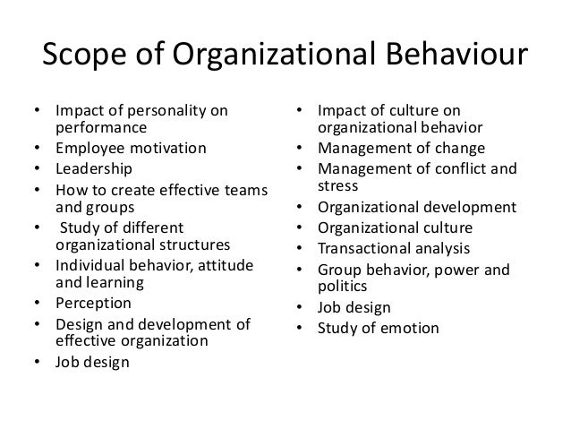 term paper in organizational behavior Restructuring affects organizational behavior in employee and groups of employees every time changes are finished sometimes the behavior in change can be positive, but many employees behavior start out negative until they can adapt to the new restructure.