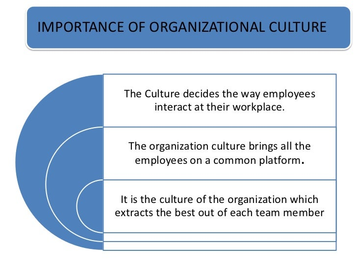 organisational culture essay Organizational culture michael mcintyre bus 600 management communications with technology tools instructor stephen tvorik oct 22, 2011 organizational.