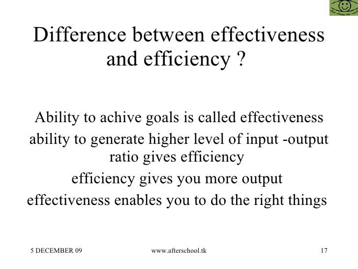 difference between productivity and efficiency Difference between productivity and efficiency and their calculation method.