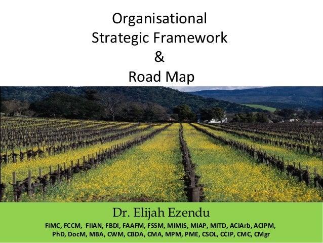 Organisational strategic framework & road map