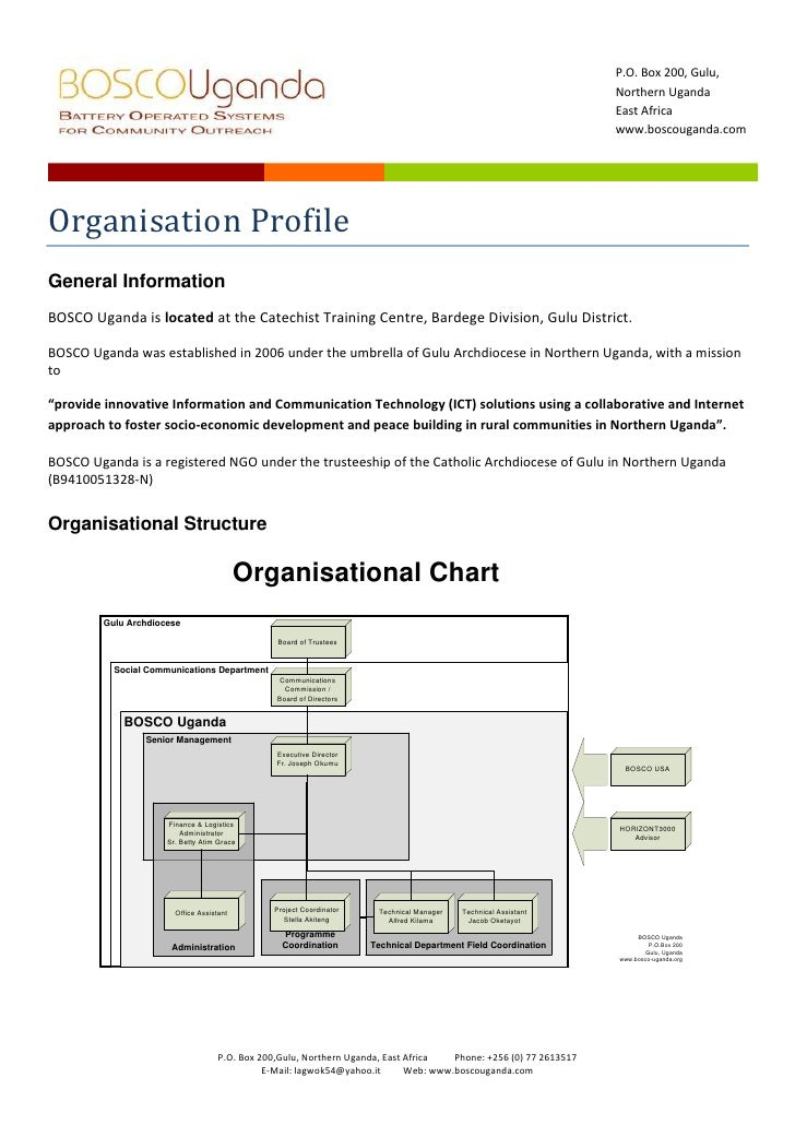 BOSCO Organisation profile