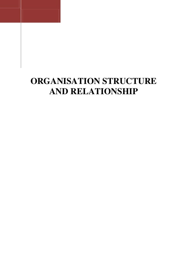 Organisation structure and relationship
