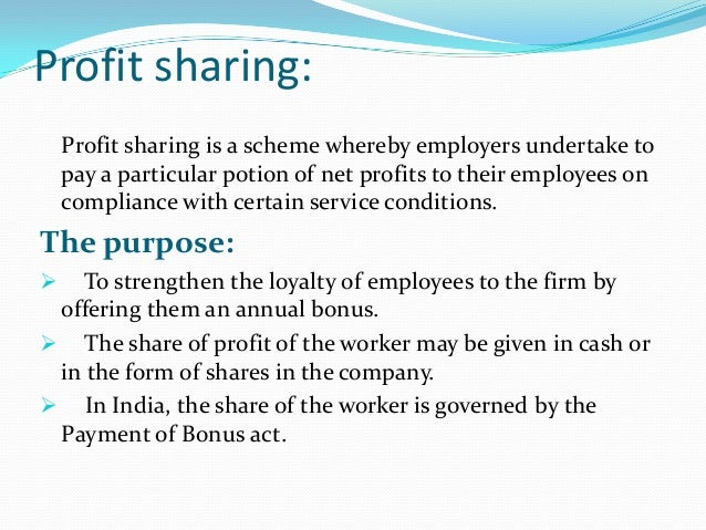 gain sharing vs profit sharing Compensation: incentive plans: gainsharing gainsharing or profit sharing: the right tool for the right organization an article by robert l masternak links.
