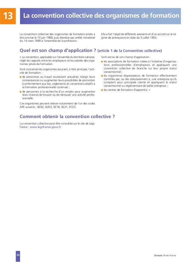 CONVENTION COLLECTIVE NATIONALE : ORGANISMES DE FORMATION Prisme Limousin