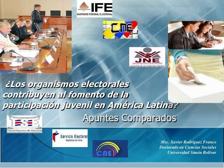 ¿Los organismos electorales contribuyen al fomento de la participación juvenil en América Latina? <br />ApuntesComparados<...