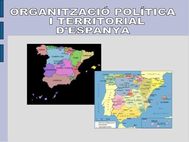 Organització política i territorial d'Espanya
