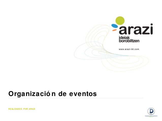 Organizació n de eventosREALIZADOS POR ARAZI