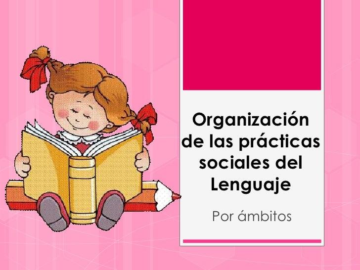 Organizaciónde las prácticas  sociales del   Lenguaje   Por ámbitos