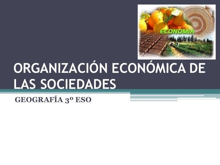 ORGANIZACIÓN ECONÓMICA DE LAS SOCIEDADES