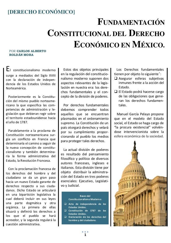 Organización económica del estado mexicano