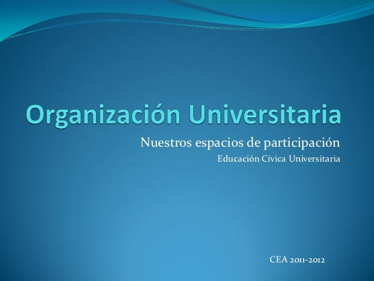 Organización universitaria