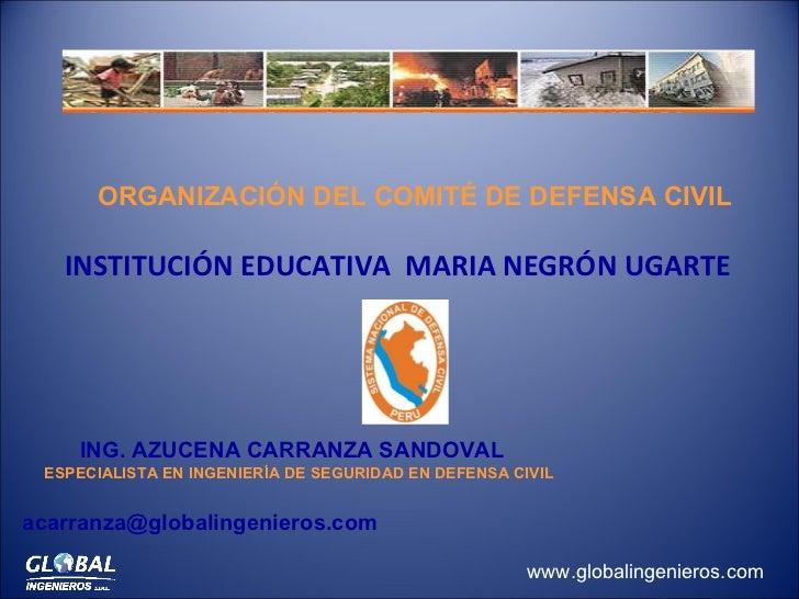 <ul><li>INSTITUCIÓN EDUCATIVA  MARIA NEGRÓN UGARTE </li></ul>ING. AZUCENA CARRANZA SANDOVAL  ESPECIALISTA EN INGENIERÍA DE...