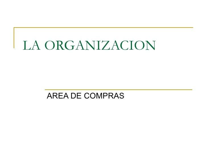 Organizacion de compras