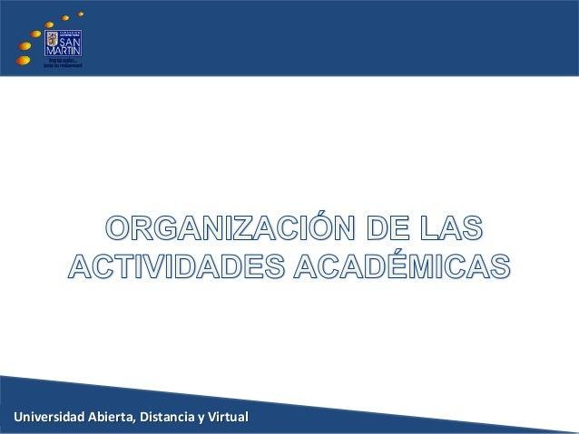 Organizacion de las actividades academicas vr2