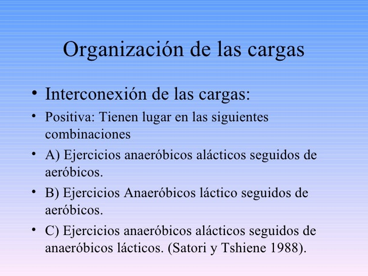 Organización de las cargas <ul><li>Interconexión de las cargas: </li></ul><ul><li>Positiva: Tienen lugar en las siguientes...
