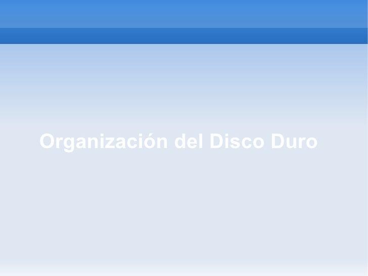 Organizacion Disco