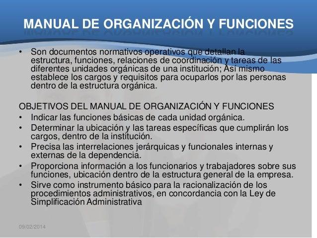 Manual de organizacin y funciones oficina de organizacion for Funciones de una oficina wikipedia