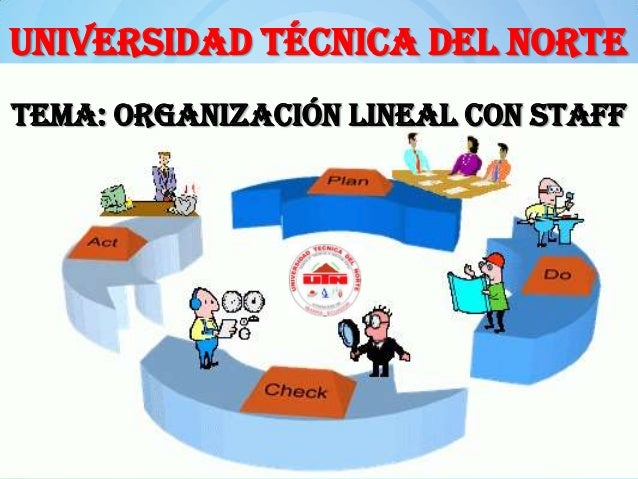 UNIVERSIDAD TÉCNICA DEL NORTE Tema: ORGANIZACIÓN LINEAL CON STAFF