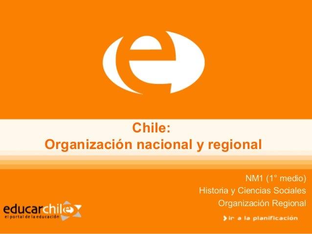 Organizacion nacional y regional